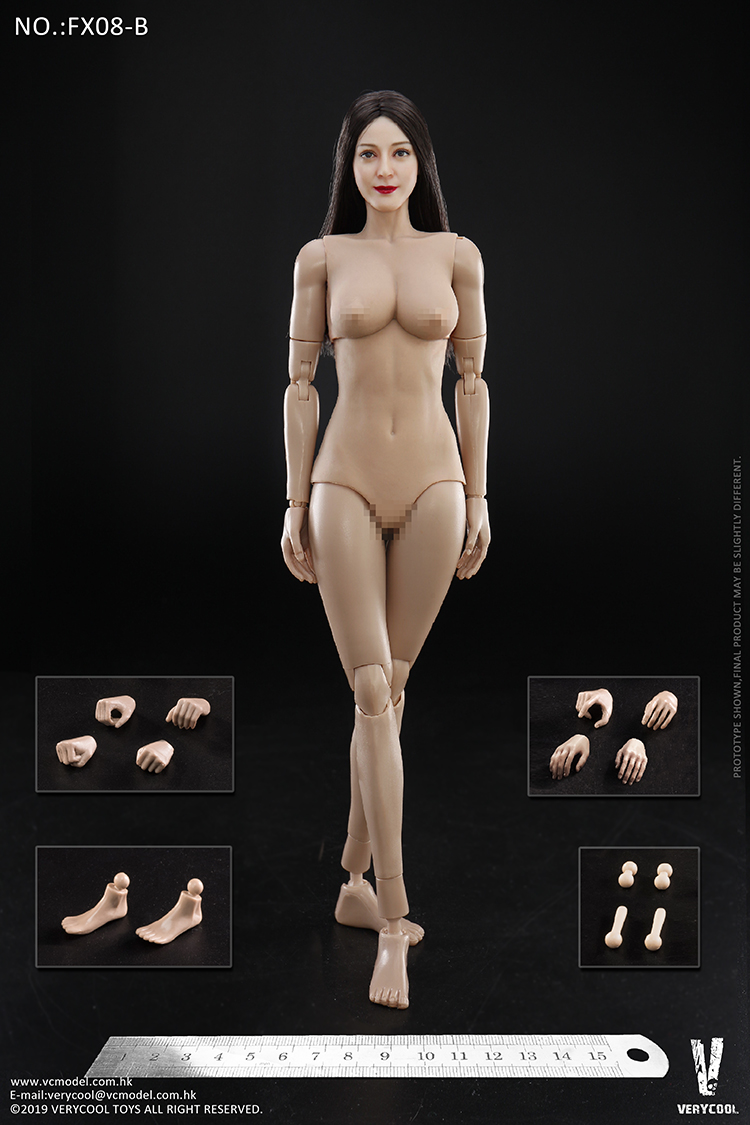 body - NEW PRODUCT: VERYCOOL: 1/6 Asian beauty head carving + VC 3.0 semi-encapsulated female body suit & costume red dress set single sale 19331011