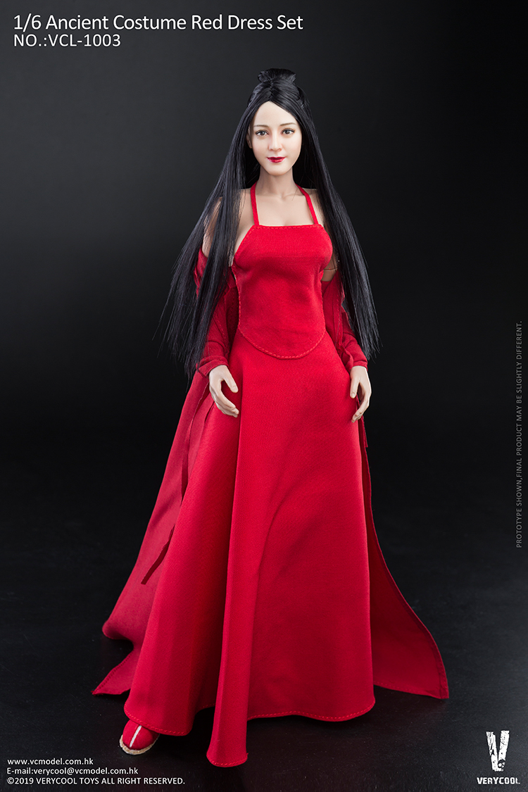 body - NEW PRODUCT: VERYCOOL: 1/6 Asian beauty head carving + VC 3.0 semi-encapsulated female body suit & costume red dress set single sale 19351510