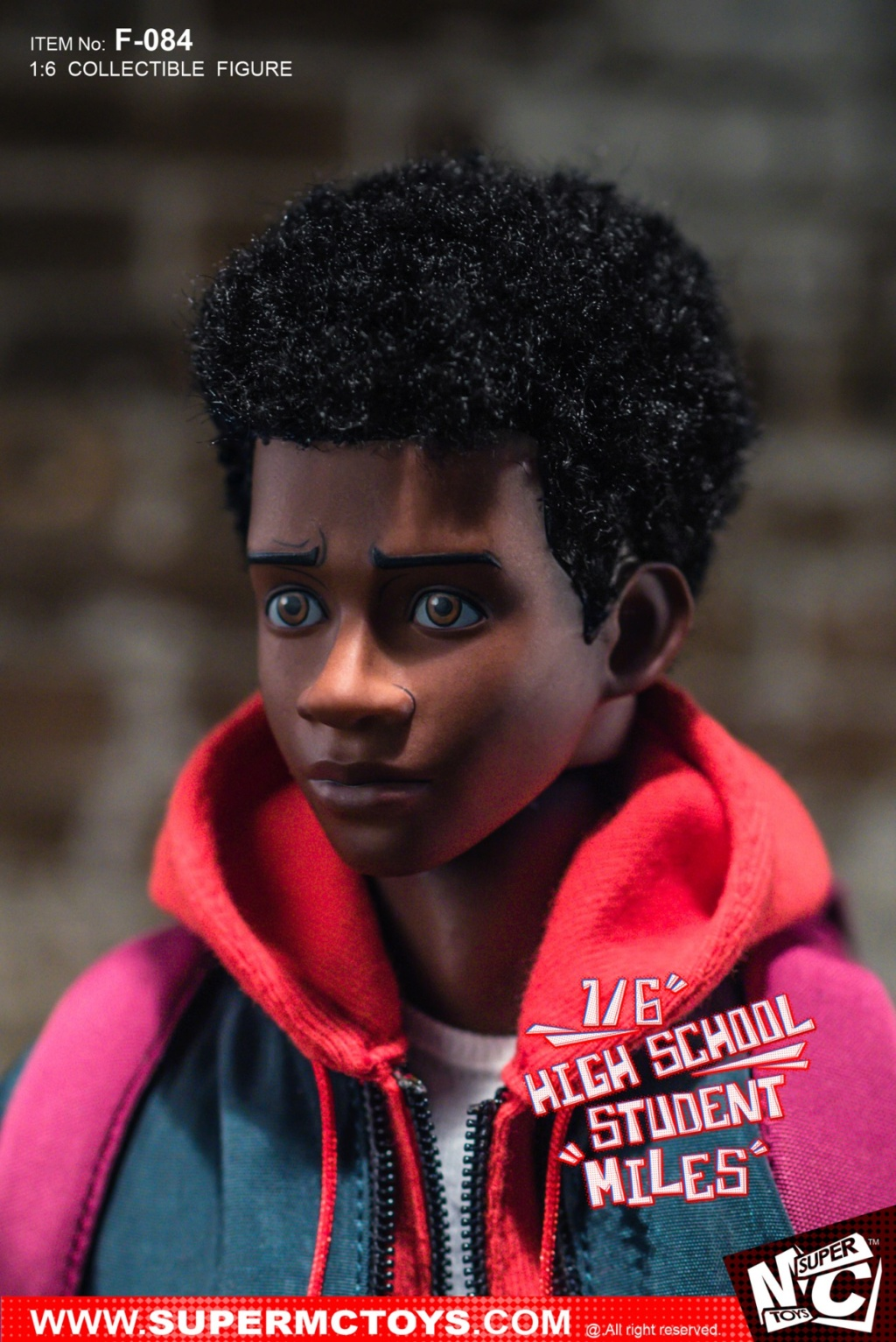animatedmovie-based - NEW PRODUCT: SUPERMCTOYS: 1/6 High School Students - Little Black Miles Miles Movable F-084# 19373510