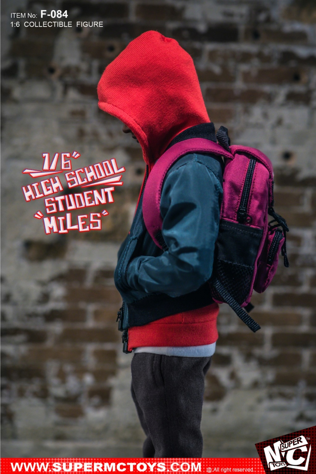 animatedmovie-based - NEW PRODUCT: SUPERMCTOYS: 1/6 High School Students - Little Black Miles Miles Movable F-084# 19374310
