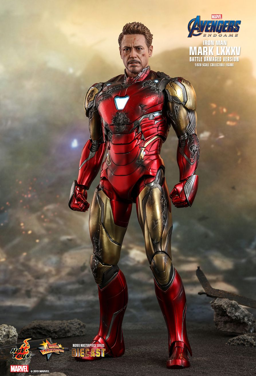 marvel - NEW PRODUCT: HOT TOYS: AVENGERS: ENDGAME IRON MAN MARK LXXXV (BATTLE DAMAGED VERSION) 1/6TH SCALE COLLECTIBLE FIGURE 1987