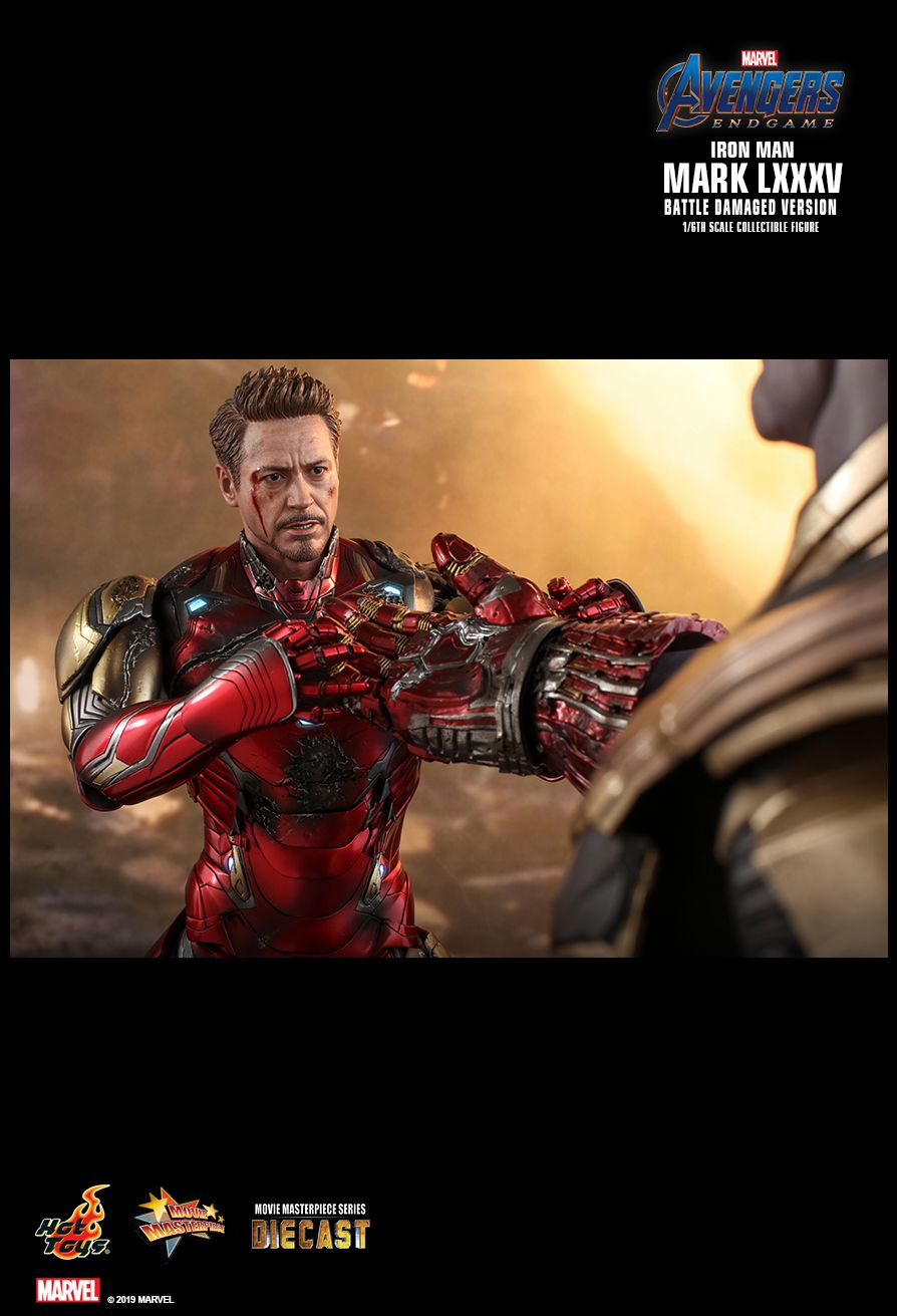 marvel - NEW PRODUCT: HOT TOYS: AVENGERS: ENDGAME IRON MAN MARK LXXXV (BATTLE DAMAGED VERSION) 1/6TH SCALE COLLECTIBLE FIGURE 1988
