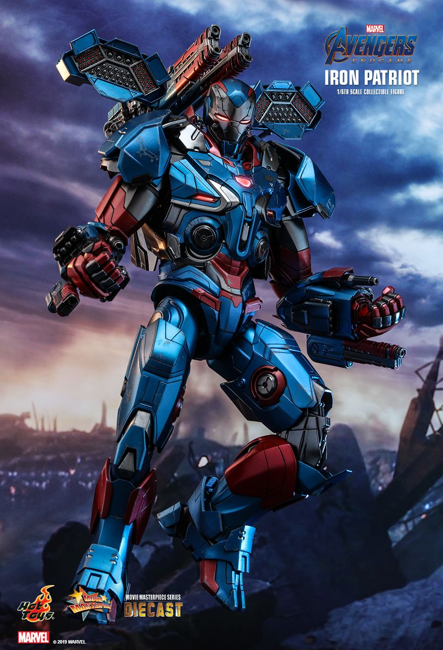 Endgame - NEW PRODUCT: HOT TOYS: AVENGERS: ENDGAME IRON PATRIOT 1/6TH SCALE COLLECTIBLE FIGURE 1992