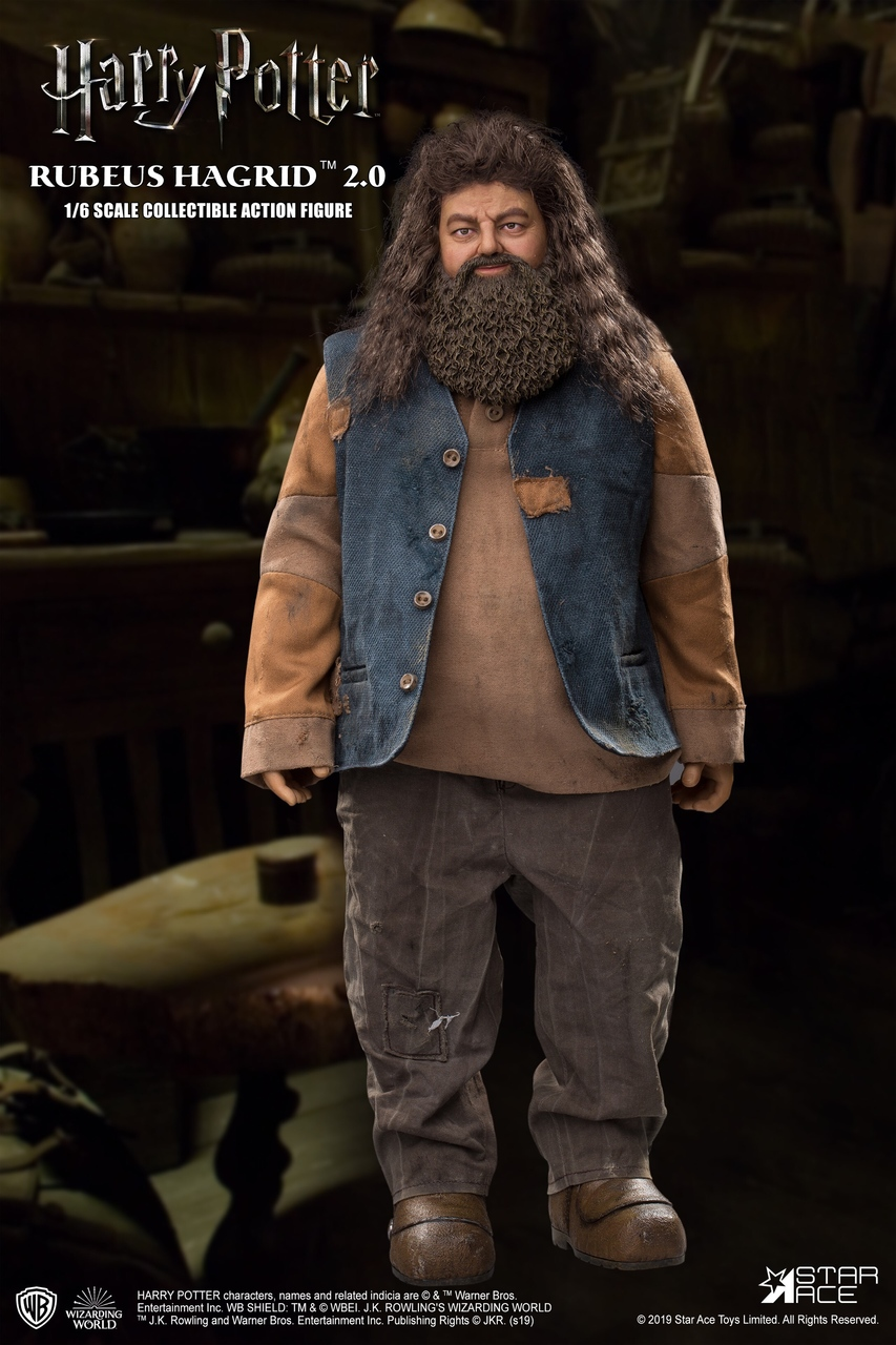 "male - NEW PRODUCT: StarAce Toys: 1/6 ""Harry Potter"" - Rubeus Hagrid / Luber Hager 2.0 (#SA0072) 1999"