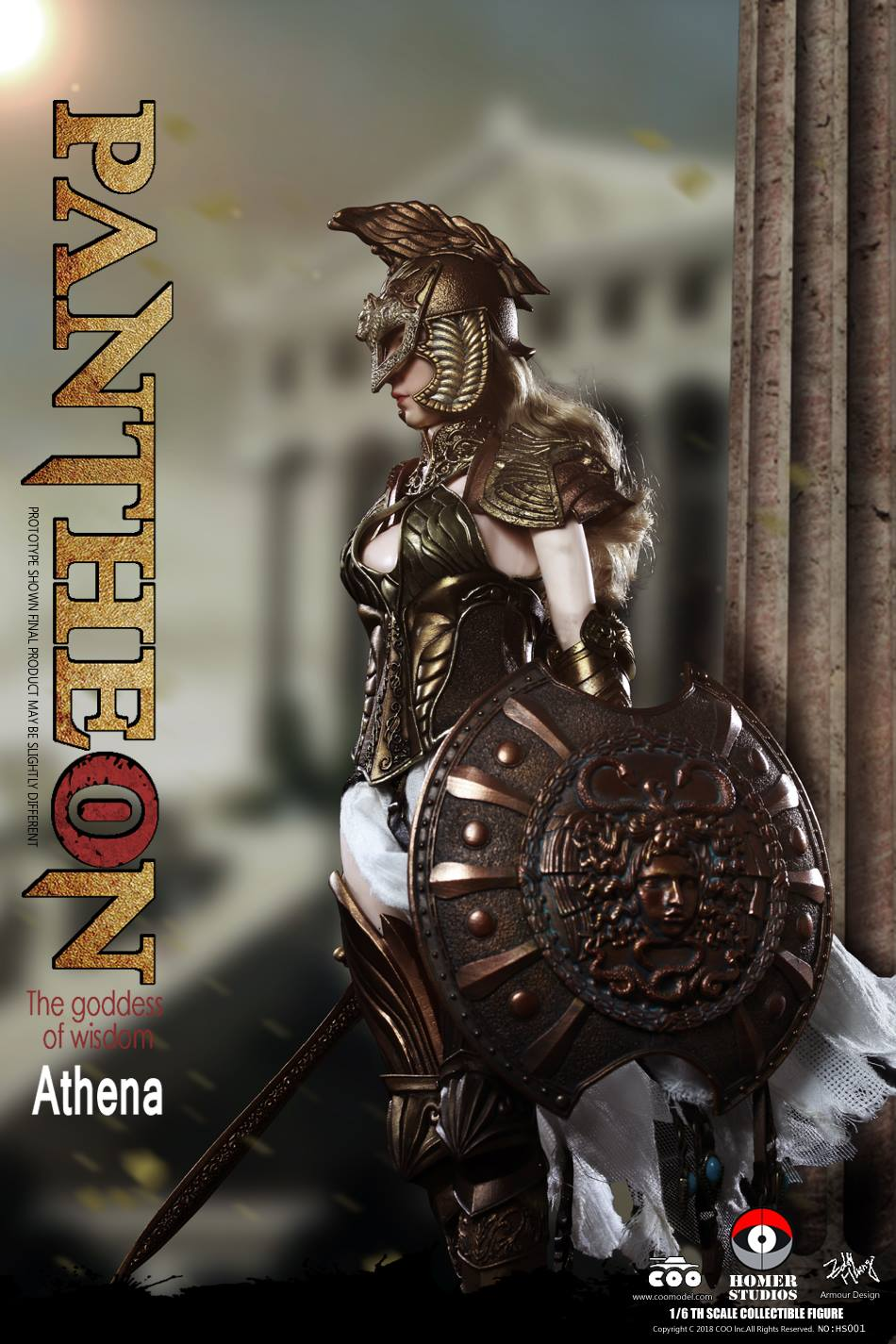 "NEW PRODUCT: COO MODEL X HOMER 1/6th scale PANTHEON Athena Goddess of War 12"" Collectible Figure 1a10"