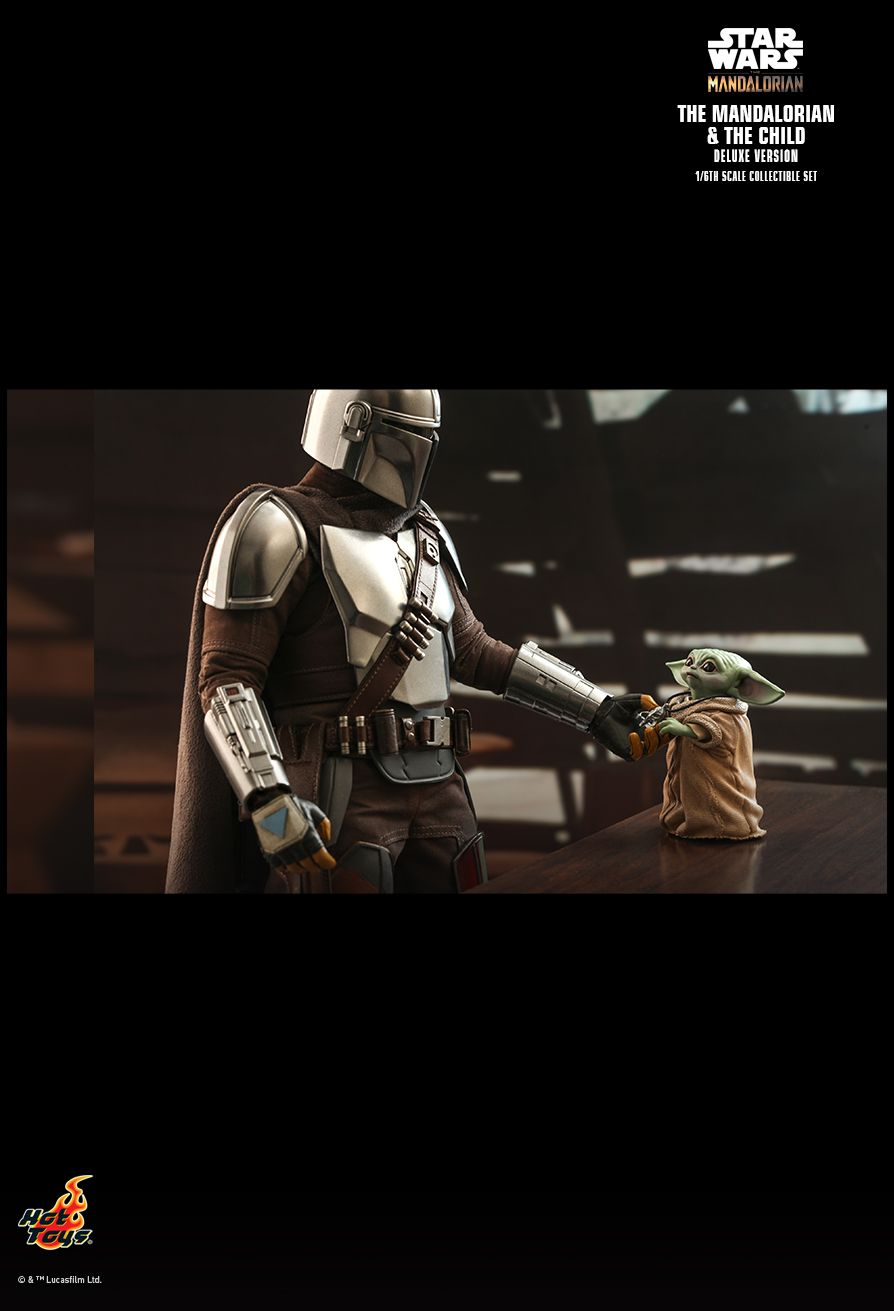 Sci-Fi - NEW PRODUCT: HOT TOYS: THE MANDALORIAN THE MANDALORIAN AND THE CHILD 1/6TH SCALE COLLECTIBLE SET (Standard and Deluxe) 1a3b7e10