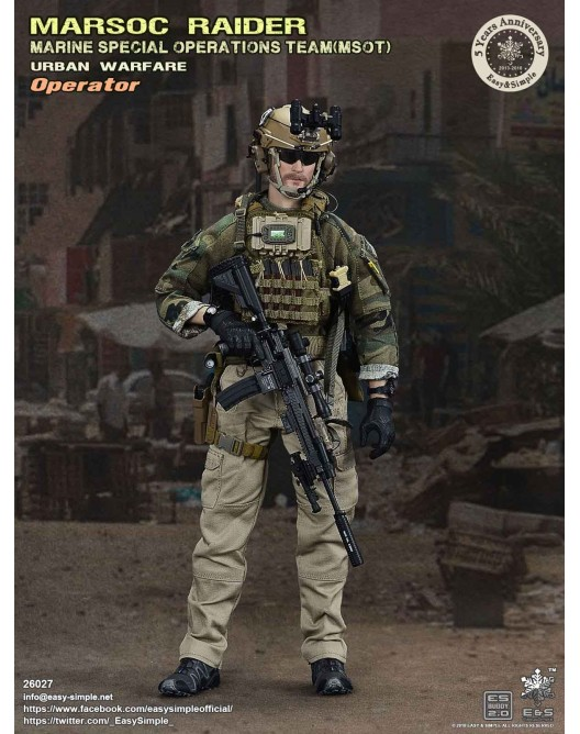NEW PRODUCT: Easy & Simple 26027 1/6 Scale MARSOC Raider Urban Warfare Operator 2-528x10