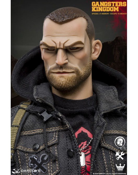 Stylized - NEW PRODUCT: DAMTOYS: 1/6 Scale Gangsters Kingdom SPADES J'S MEMORY-GREG (GK003MX) 20095211