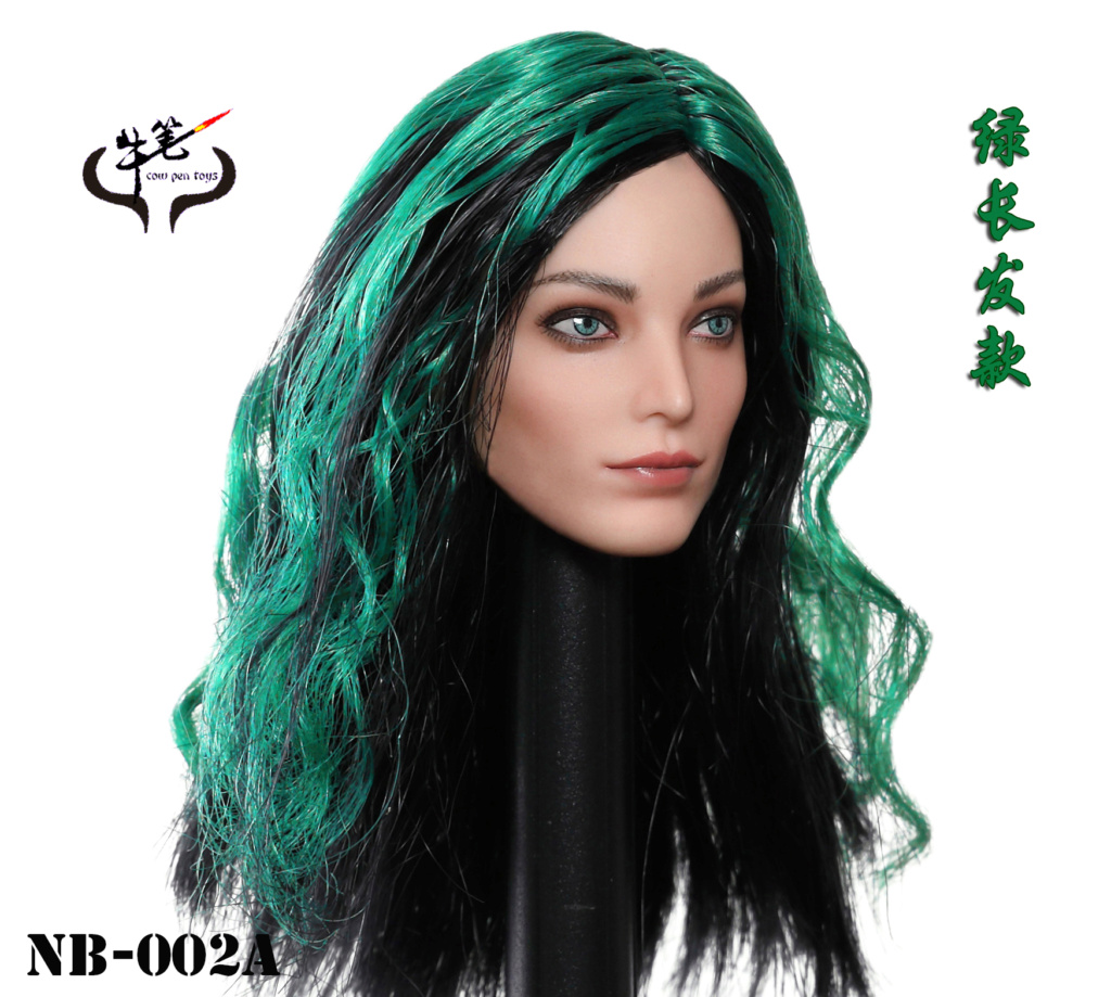 Emma - NEW PRODUCT: COW PEN TOYS: 1 / 6 NB-002 female head carved Polaris Emma - a total of 4 models 20102610