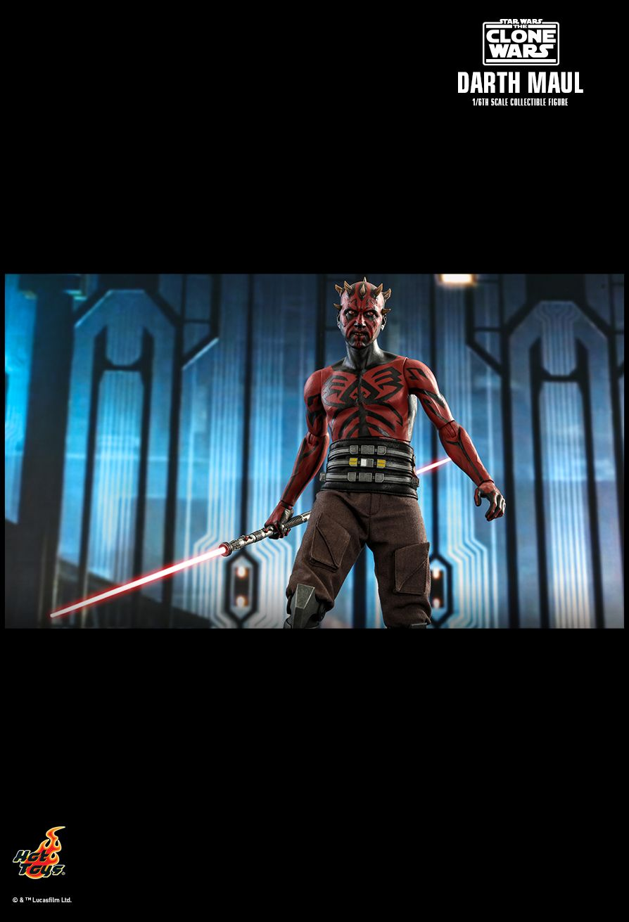Sci-Fi - NEW PRODUCT: HOT TOYS: STAR WARS: THE CLONE WARS™ DARTH MAUL™ 1/6TH SCALE COLLECTIBLE FIGURE 20132