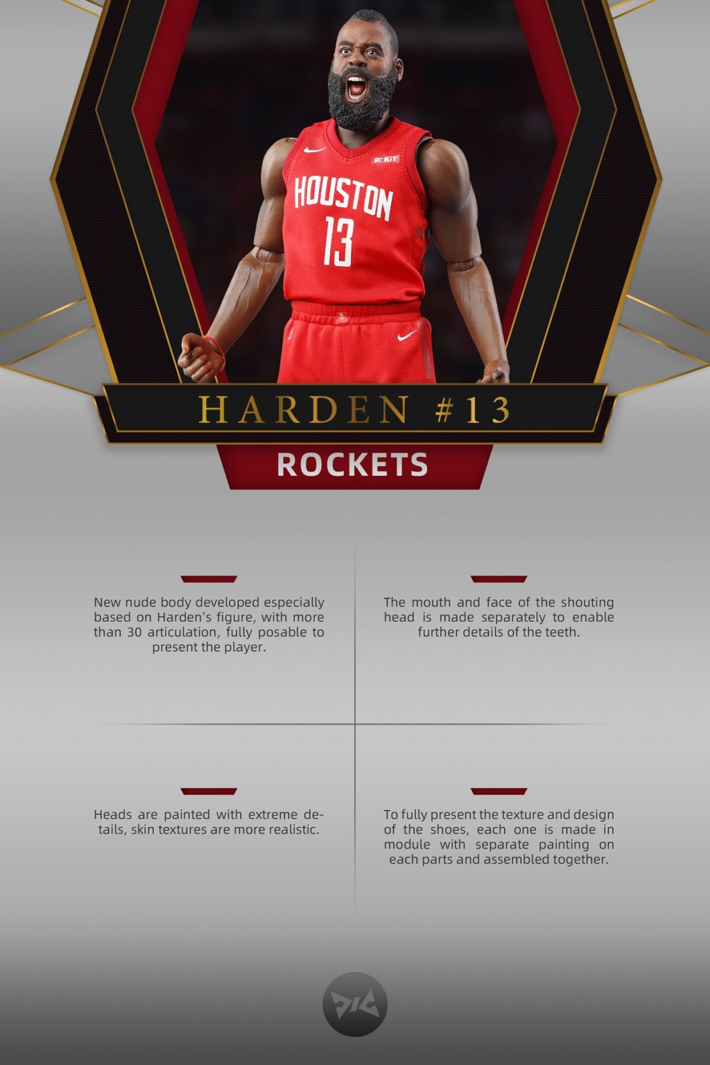 AfricanAmerican - NEW PRODUCT: DJ CUSTOM: 1/6 New Basketball Player Series - Harden (Normal & Deluxe Edition) 20145510