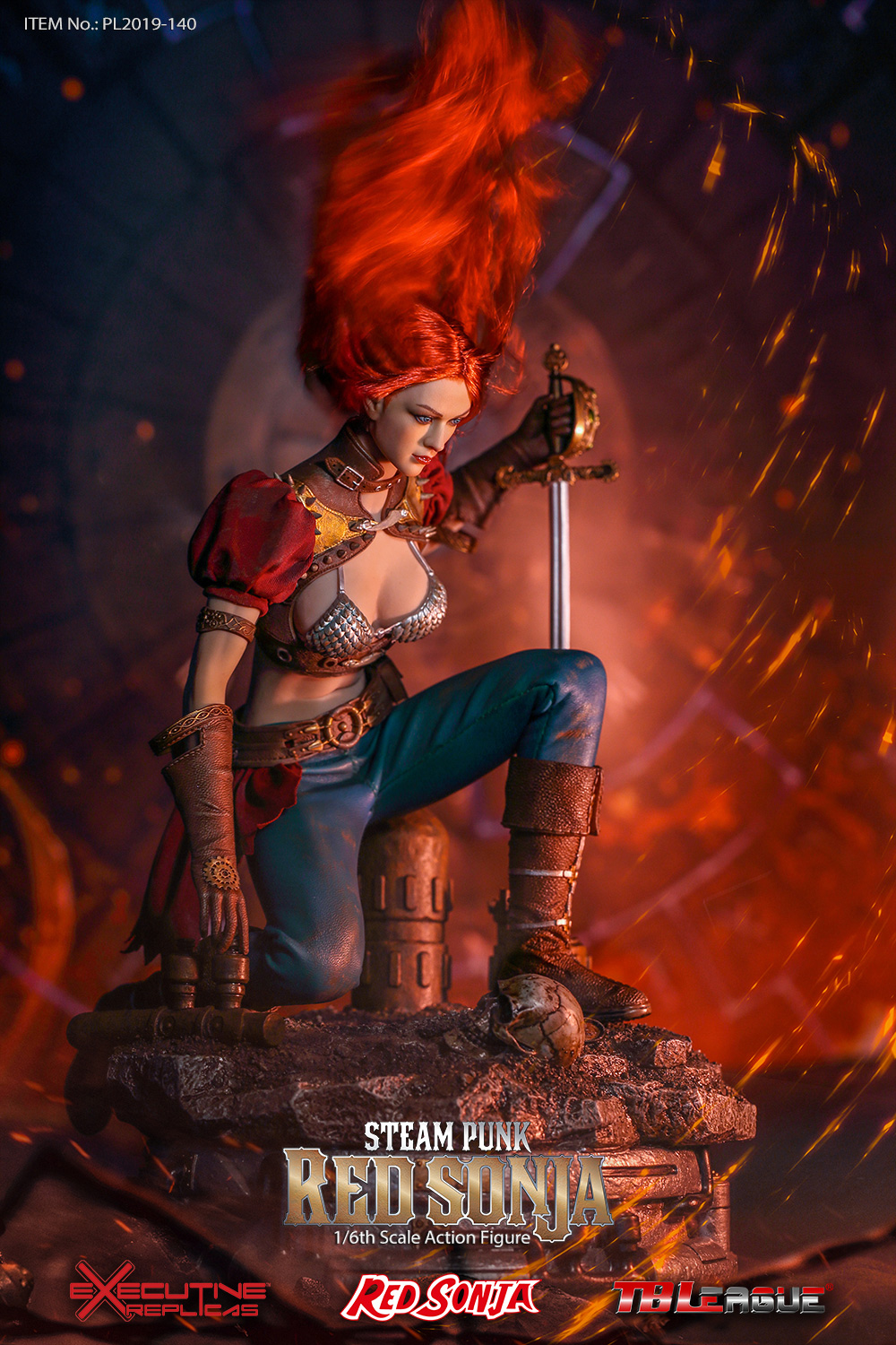 steampunk - NEW PRODUCT: TBLeague: 1/6 Steam Punk - Red Sonja / Queen Excalibur [punk version] PL2019-140-A/B 20192110