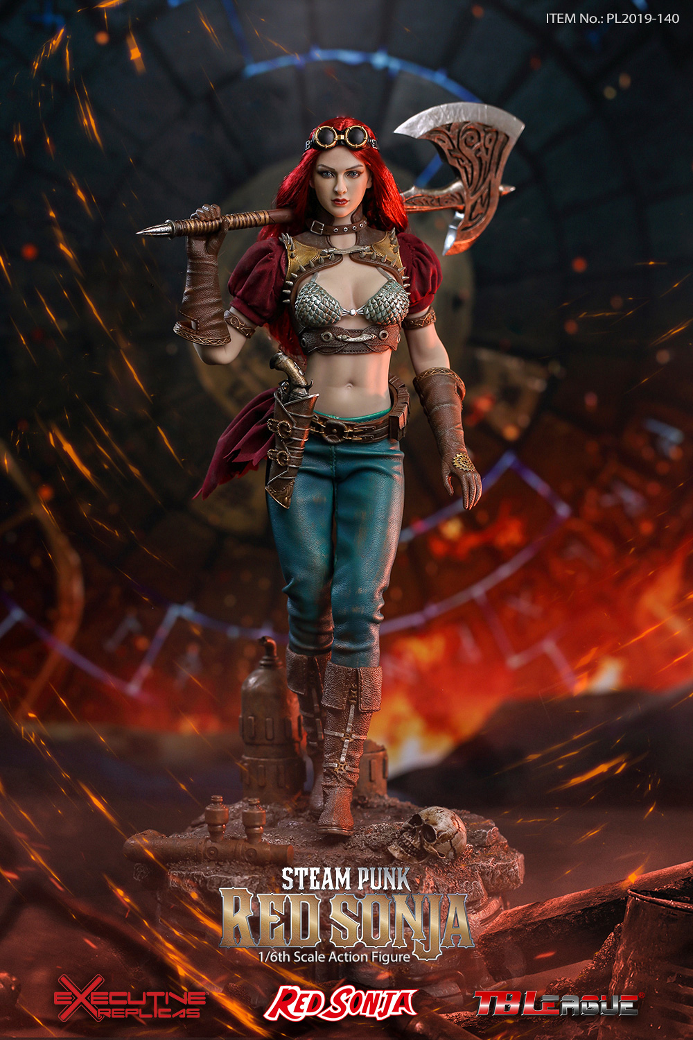 steampunk - NEW PRODUCT: TBLeague: 1/6 Steam Punk - Red Sonja / Queen Excalibur [punk version] PL2019-140-A/B 20192210