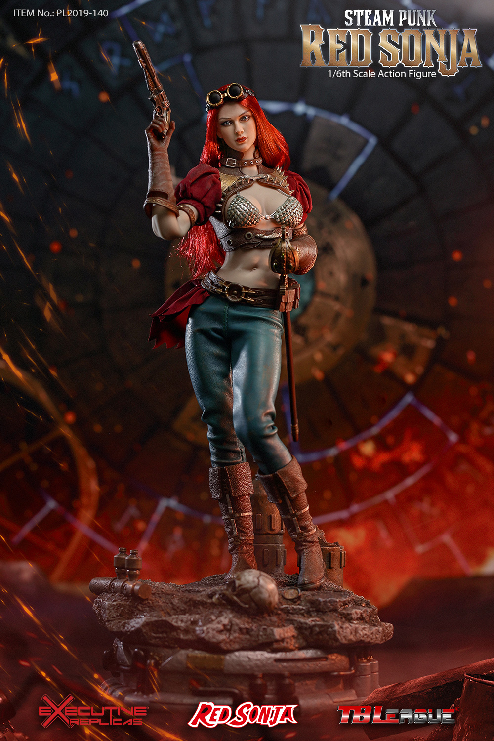 steampunk - NEW PRODUCT: TBLeague: 1/6 Steam Punk - Red Sonja / Queen Excalibur [punk version] PL2019-140-A/B 20192310