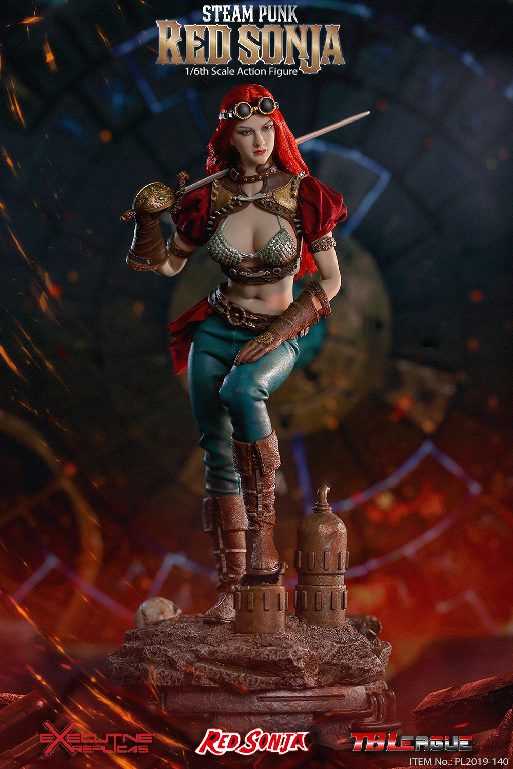 steampunk - NEW PRODUCT: TBLeague: 1/6 Steam Punk - Red Sonja / Queen Excalibur [punk version] PL2019-140-A/B 20192410