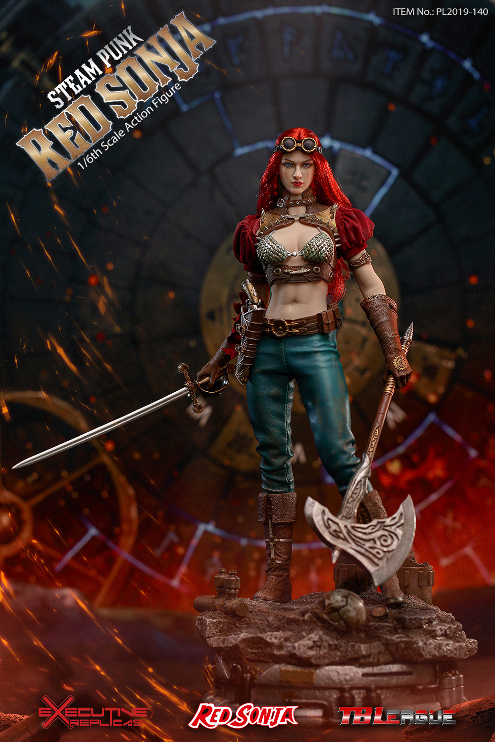 steampunk - NEW PRODUCT: TBLeague: 1/6 Steam Punk - Red Sonja / Queen Excalibur [punk version] PL2019-140-A/B 20192411