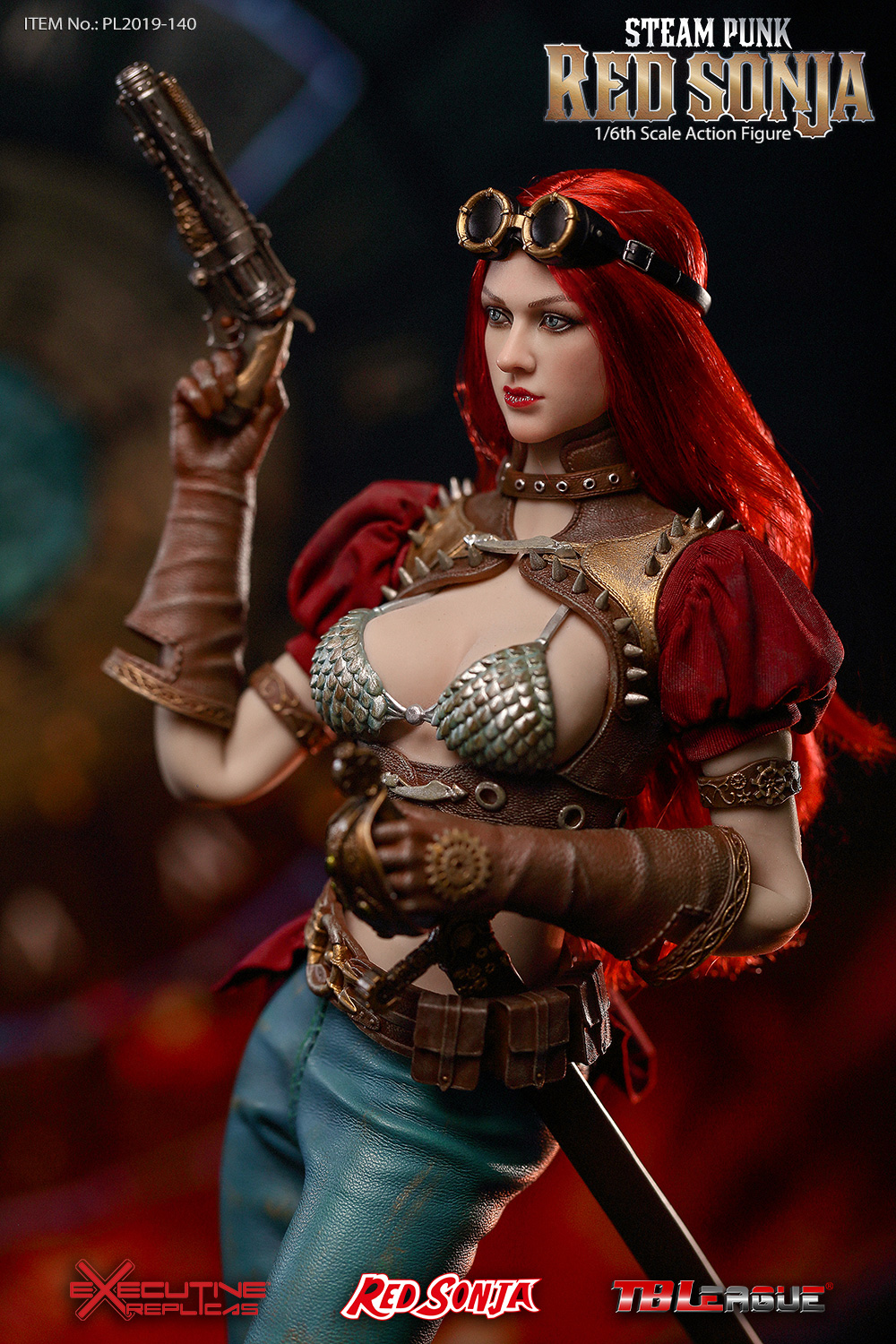 steampunk - NEW PRODUCT: TBLeague: 1/6 Steam Punk - Red Sonja / Queen Excalibur [punk version] PL2019-140-A/B 20192510
