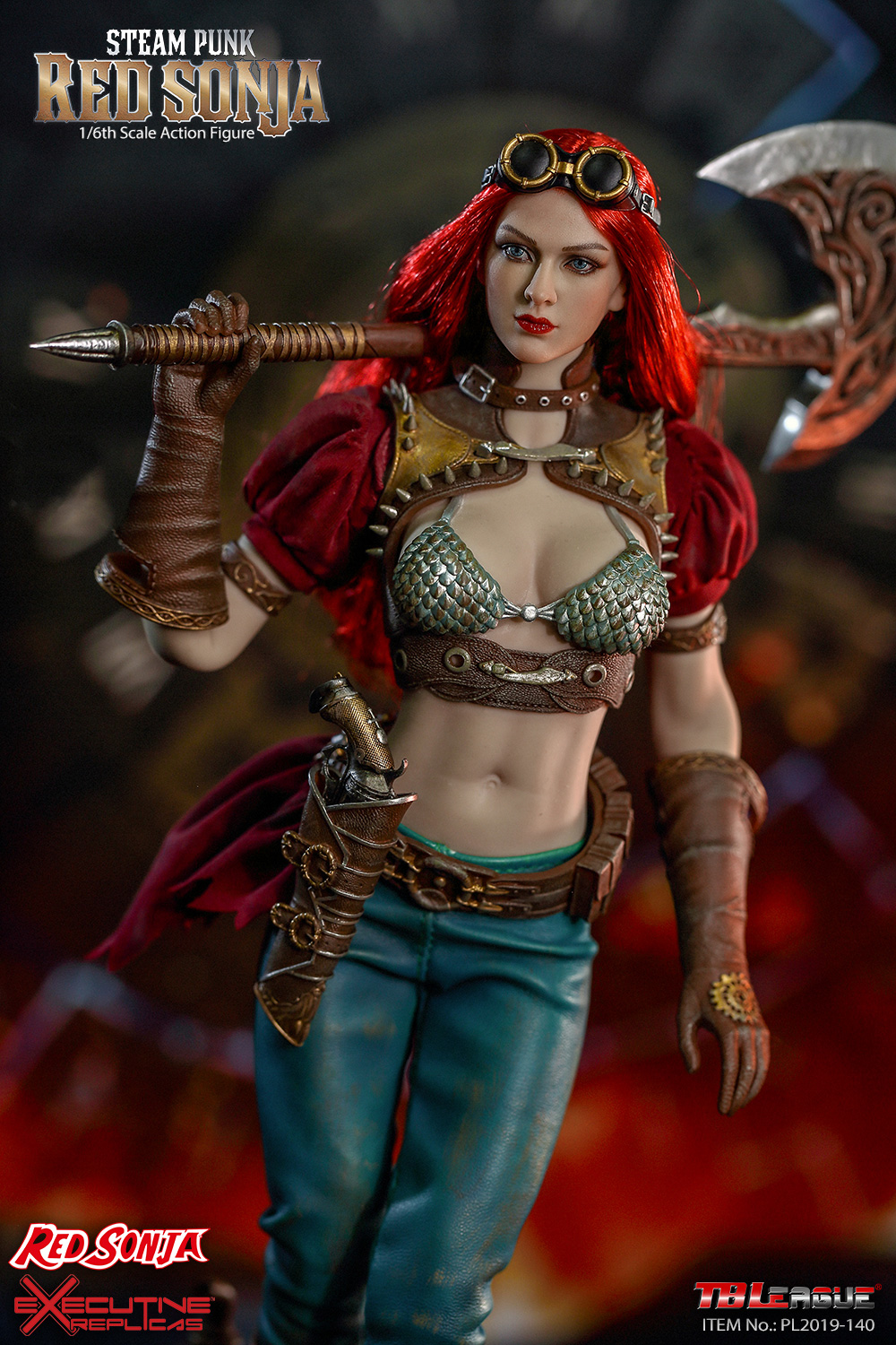 steampunk - NEW PRODUCT: TBLeague: 1/6 Steam Punk - Red Sonja / Queen Excalibur [punk version] PL2019-140-A/B 20192610