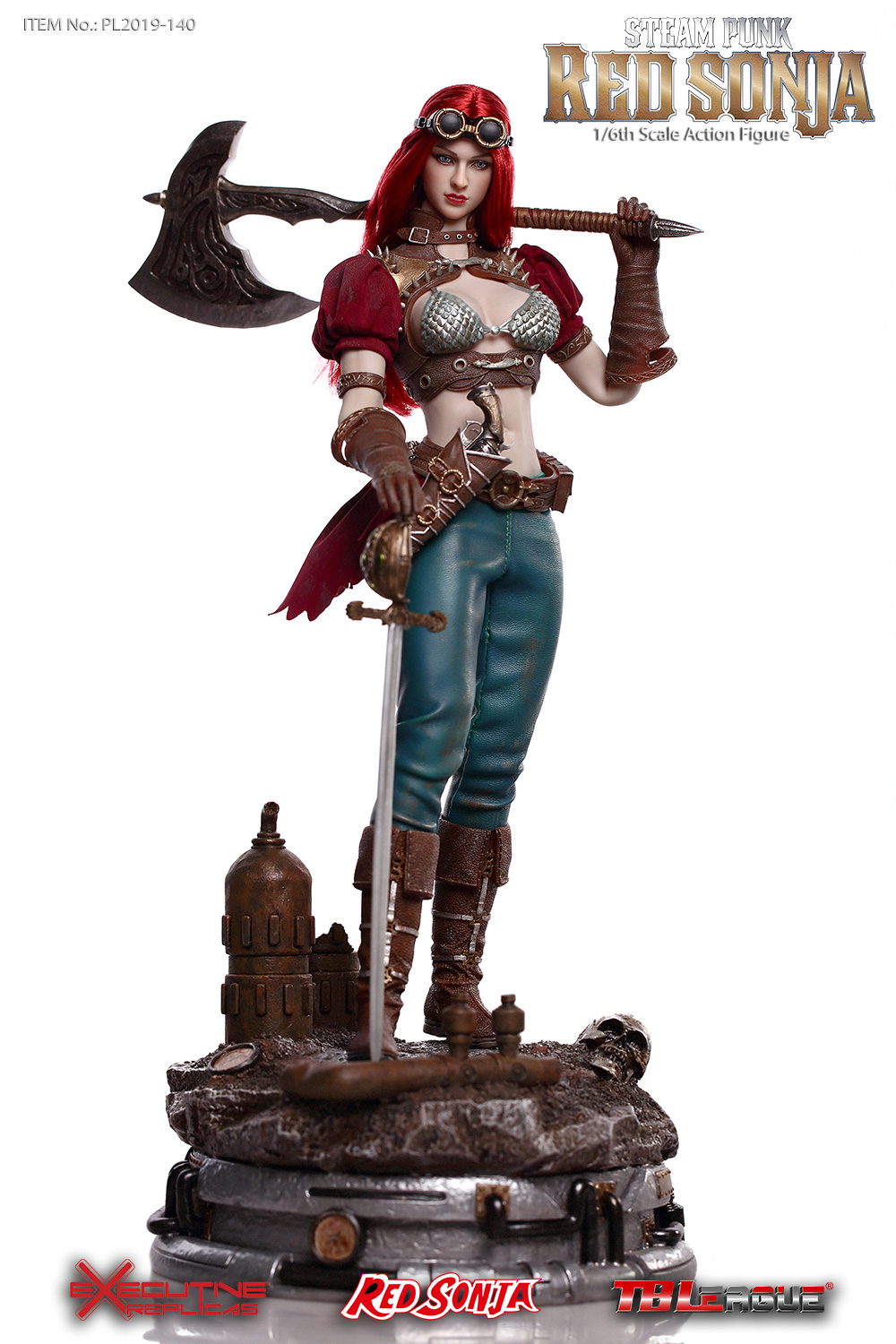steampunk - NEW PRODUCT: TBLeague: 1/6 Steam Punk - Red Sonja / Queen Excalibur [punk version] PL2019-140-A/B 20192710