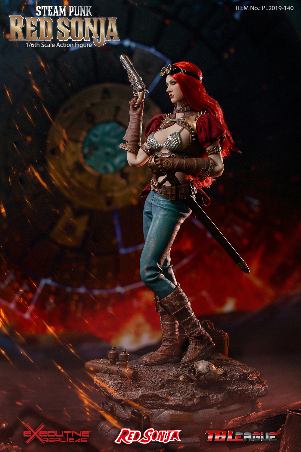 steampunk - NEW PRODUCT: TBLeague: 1/6 Steam Punk - Red Sonja / Queen Excalibur [punk version] PL2019-140-A/B 20192811