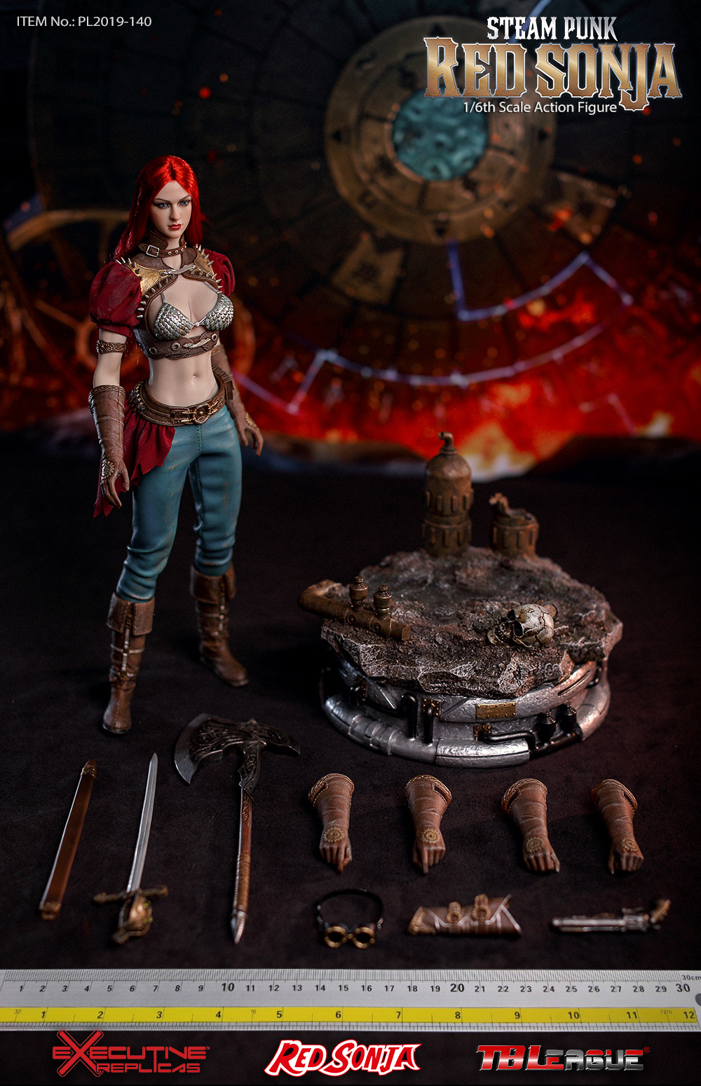 steampunk - NEW PRODUCT: TBLeague: 1/6 Steam Punk - Red Sonja / Queen Excalibur [punk version] PL2019-140-A/B 20193010