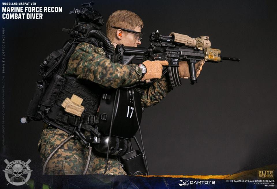 DamToys - NEW PRODUCT: DAM Toys: Marine Force Recon Combat Diver (Desert MARPAT) (GIDAM-78056) & (Woodland MARPAT) (GIDAM-78055) 2020