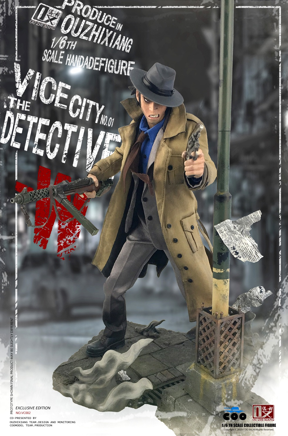 DetectiveW - NEW PRODUCT: COOMODEL X Even: 1/6 Vice City - Detective W [Standard Edition & Collector's Edition] - Four-headed configuration 20282411