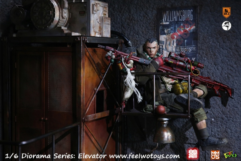 Diorama - NEW PRODUCT: FeelWoToys: non-I am a 1/6 scene series - movable remote control lift 20570810