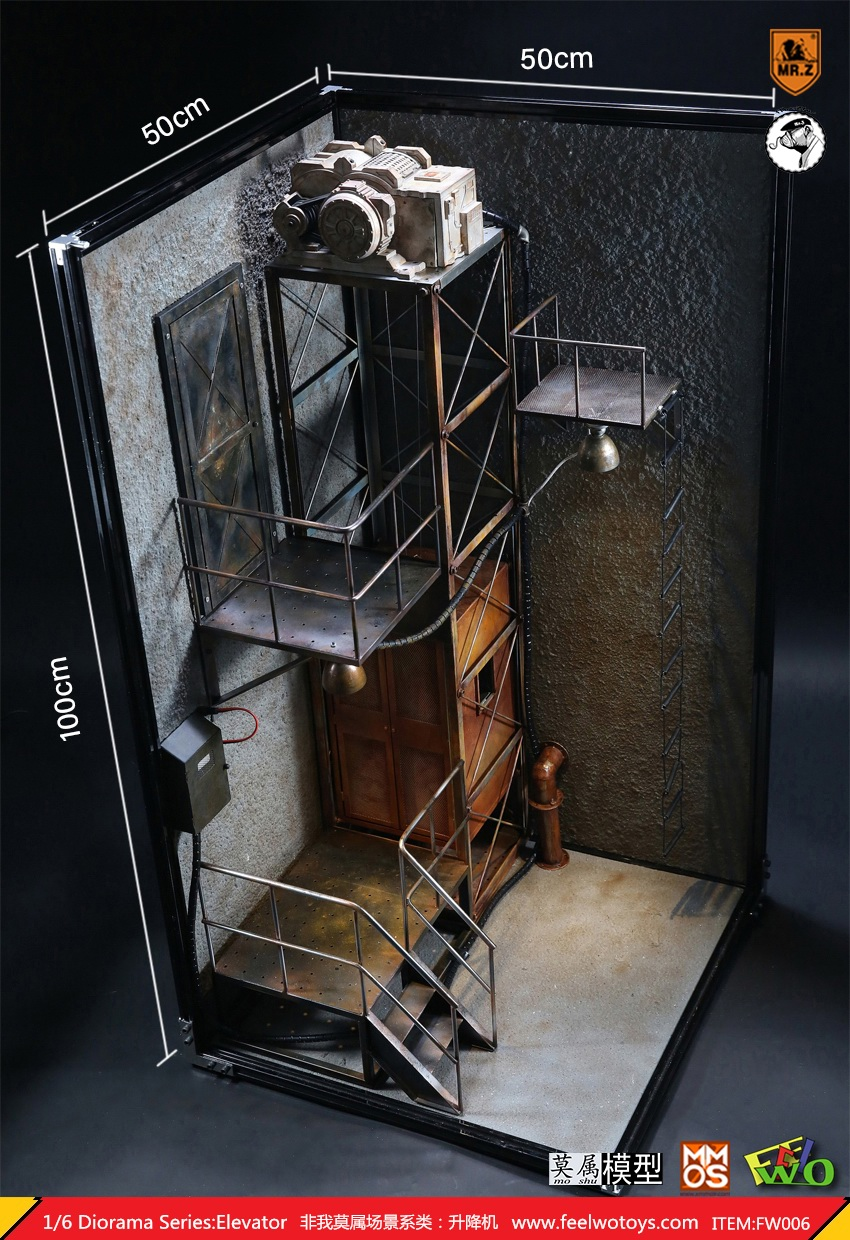 Diorama - NEW PRODUCT: FeelWoToys: non-I am a 1/6 scene series - movable remote control lift 20571412