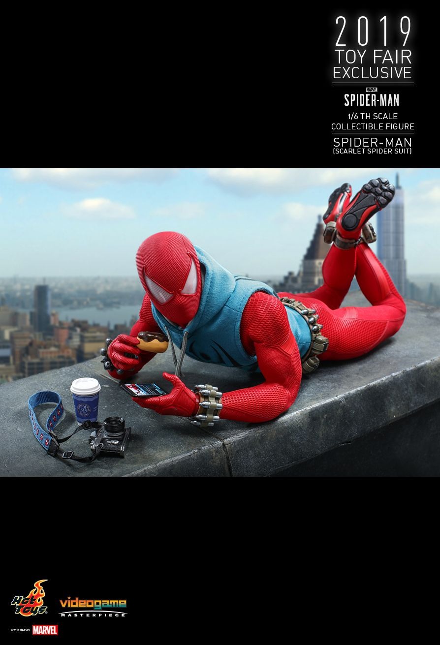 marvel - NEW PRODUCT: HOT TOYS: MARVEL'S SPIDER-MAN SPIDER-MAN (SCARLET SPIDER SUIT) 1/6TH SCALE COLLECTIBLE FIGURE 2068