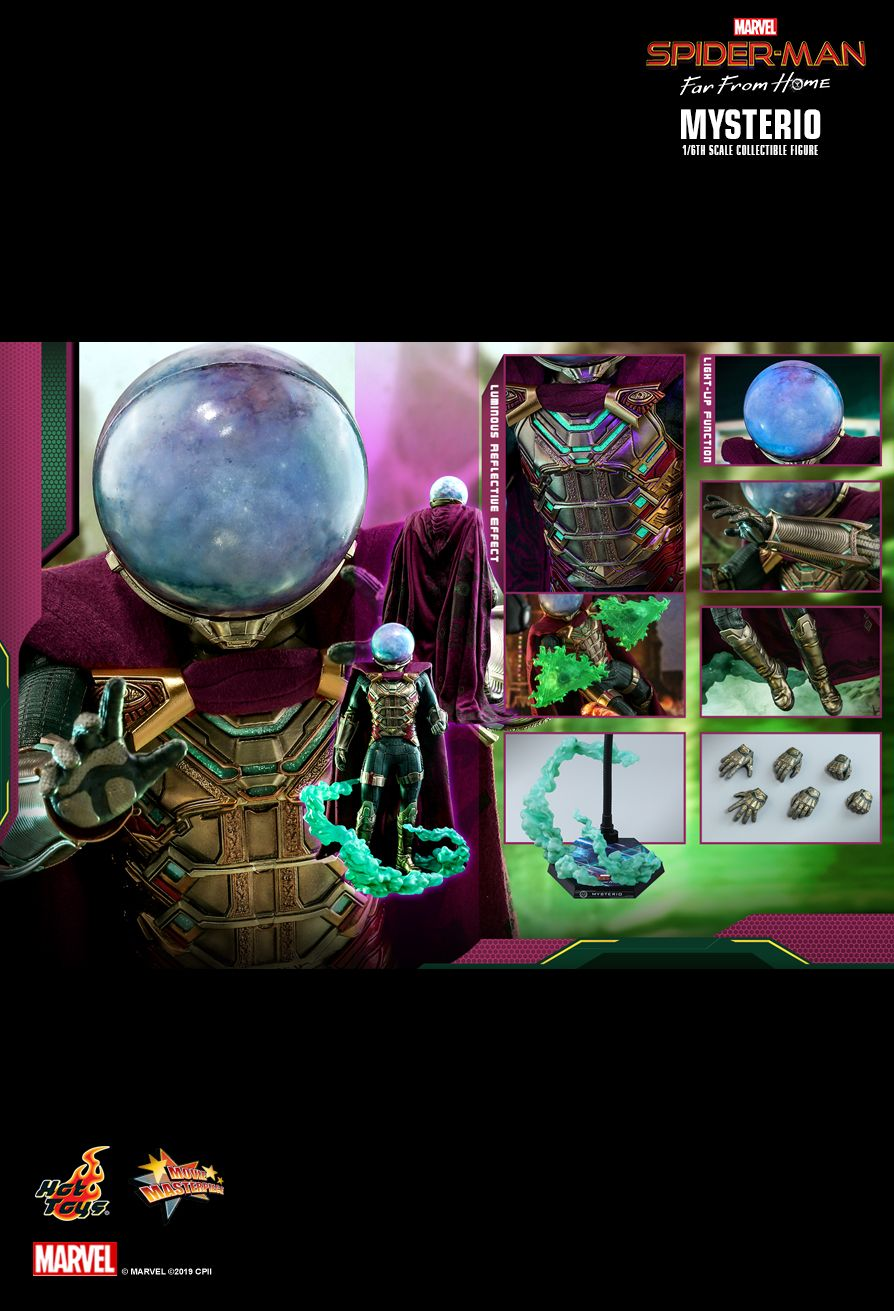 NEW PRODUCT: HOT TOYS: SPIDER-MAN: FAR FROM HOME MYSTERIO 1/6TH SCALE COLLECTIBLE FIGURE 2082