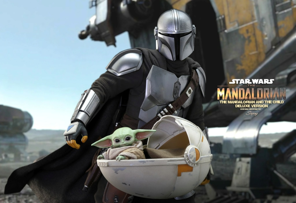 Sci-Fi - NEW PRODUCT: HOT TOYS: THE MANDALORIAN THE MANDALORIAN AND THE CHILD 1/6TH SCALE COLLECTIBLE SET (Standard and Deluxe) 20a5de10