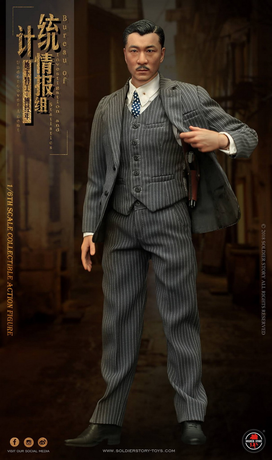 SoldierStory - NEW PRODUCT: SoldierStory new product: 1/6 World War II statistical intelligence group underground agent Fu Jingian - Shanghai 1942 (SS113#) 2101