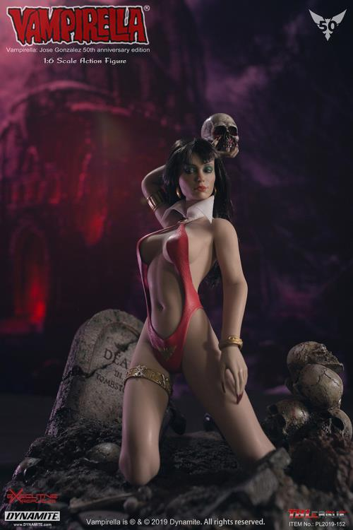 horror - NEW PRODUCT: TBLeague: 1/6 bloodsucking red face - Vampirella 50th Anniversary Edition (#PL2019-152) 21183410