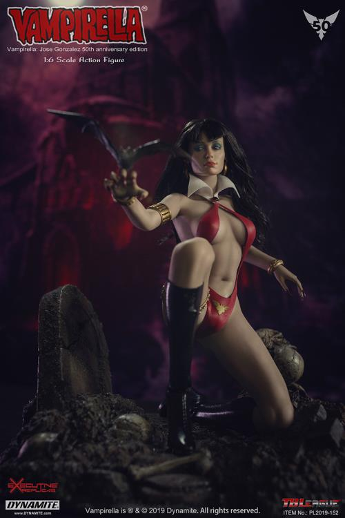 horror - NEW PRODUCT: TBLeague: 1/6 bloodsucking red face - Vampirella 50th Anniversary Edition (#PL2019-152) 21183810