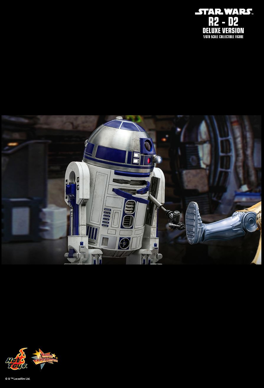 NEW PRODUCT: HOT TOYS: STAR WARS R2-D2 DELUXE VERSION 1/6TH SCALE COLLECTIBLE FIGURE 2128