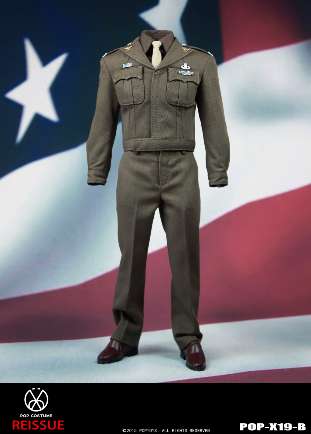 male - NEW PRODUCT: POPTOYS: 1/6 Series X19 - World War II Golden Age US Army Uniform Uniform Set - B (Reprinted in 2019) 21301710