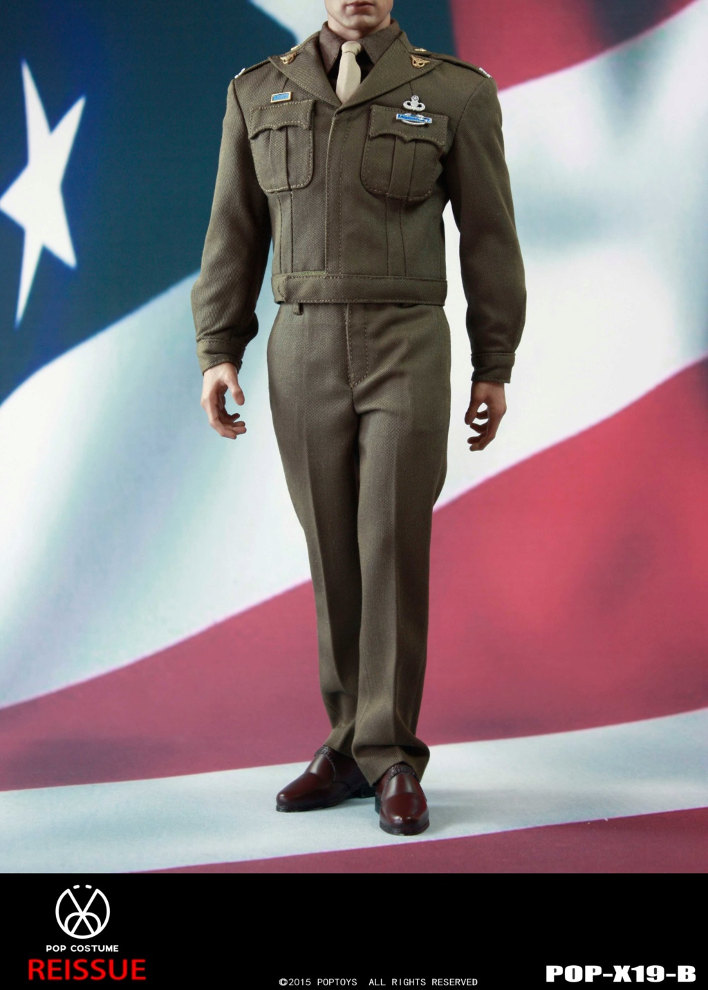 male - NEW PRODUCT: POPTOYS: 1/6 Series X19 - World War II Golden Age US Army Uniform Uniform Set - B (Reprinted in 2019) 21301810