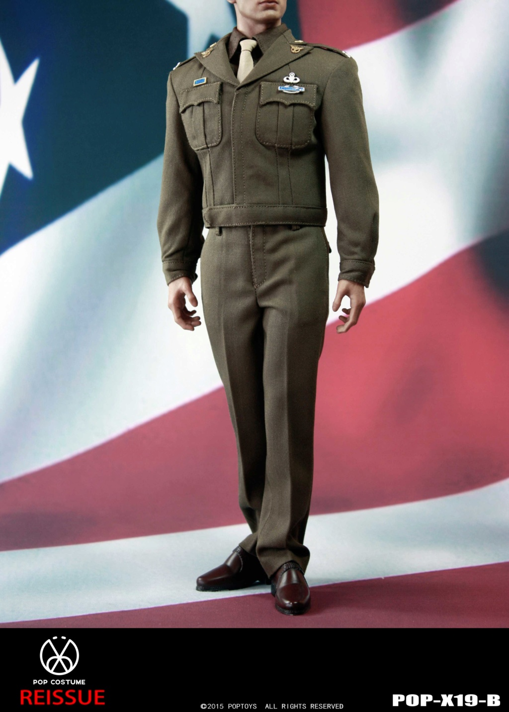 male - NEW PRODUCT: POPTOYS: 1/6 Series X19 - World War II Golden Age US Army Uniform Uniform Set - B (Reprinted in 2019) 21301910