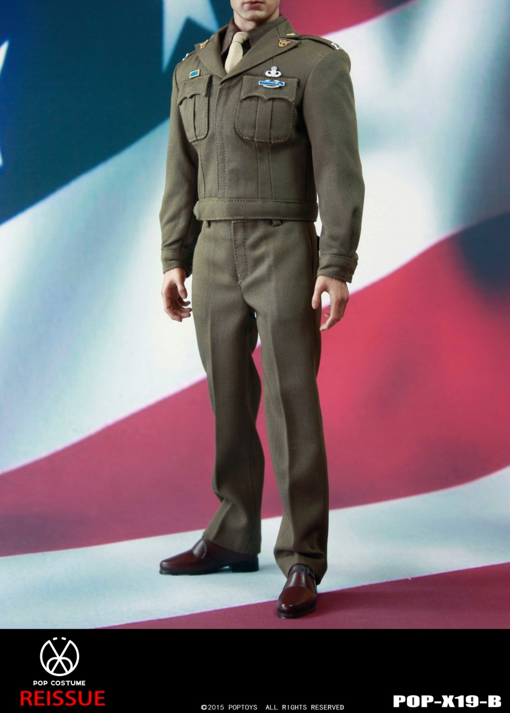 male - NEW PRODUCT: POPTOYS: 1/6 Series X19 - World War II Golden Age US Army Uniform Uniform Set - B (Reprinted in 2019) 21301911