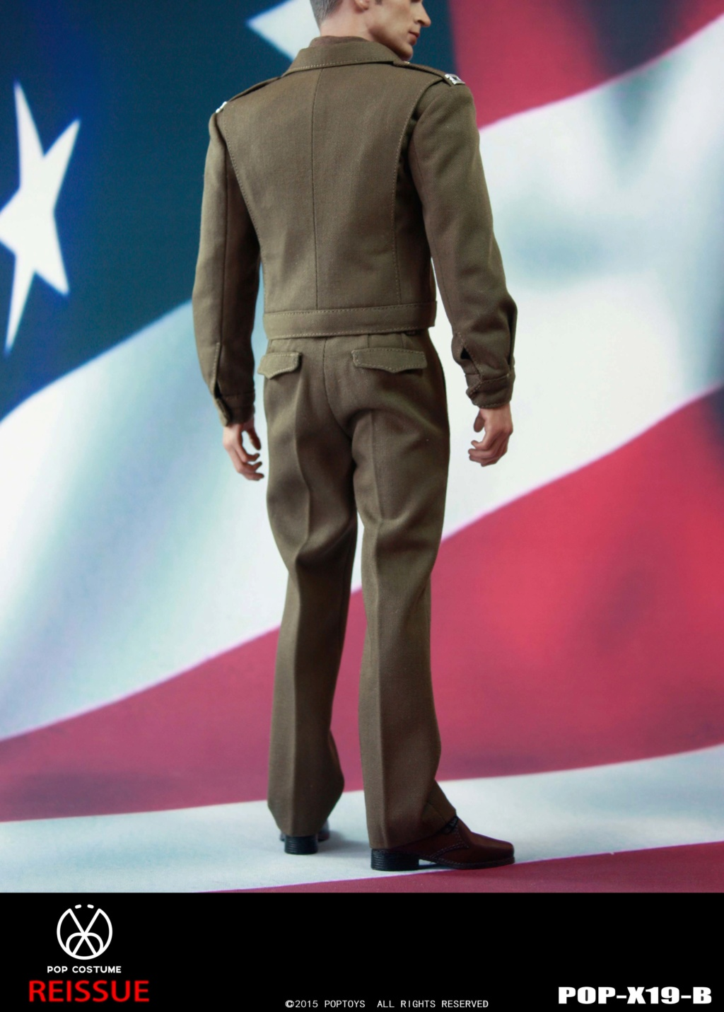 male - NEW PRODUCT: POPTOYS: 1/6 Series X19 - World War II Golden Age US Army Uniform Uniform Set - B (Reprinted in 2019) 21302010