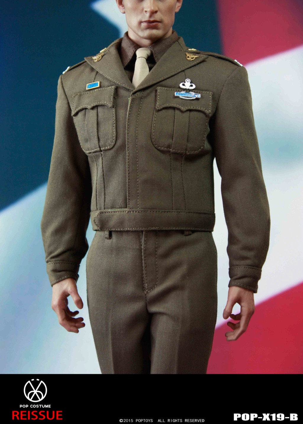 male - NEW PRODUCT: POPTOYS: 1/6 Series X19 - World War II Golden Age US Army Uniform Uniform Set - B (Reprinted in 2019) 21302110