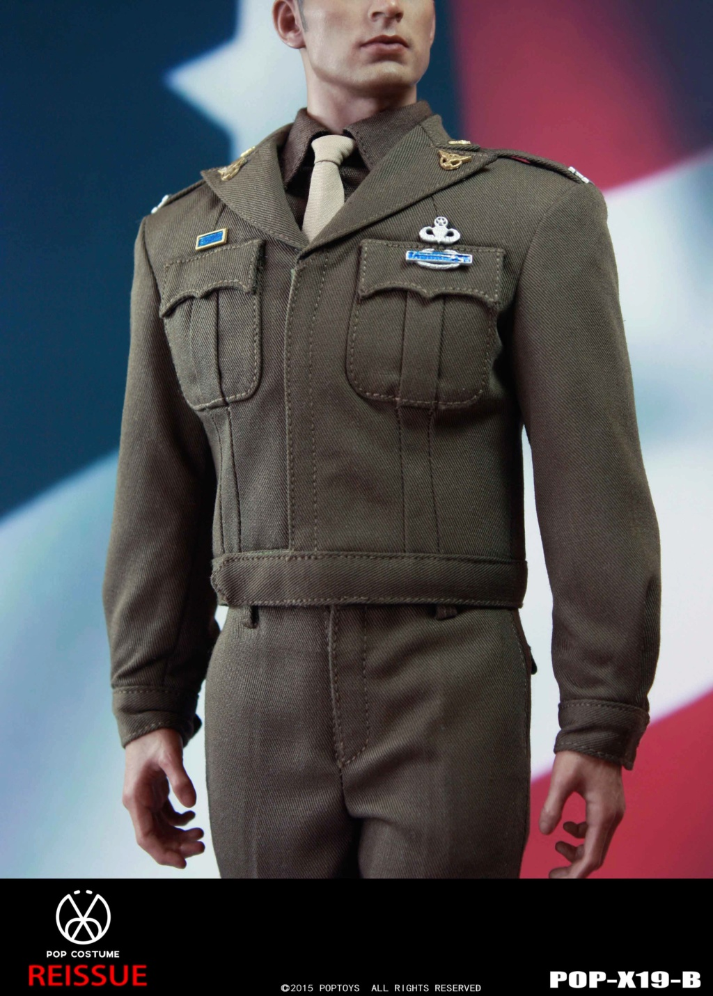 male - NEW PRODUCT: POPTOYS: 1/6 Series X19 - World War II Golden Age US Army Uniform Uniform Set - B (Reprinted in 2019) 21302111