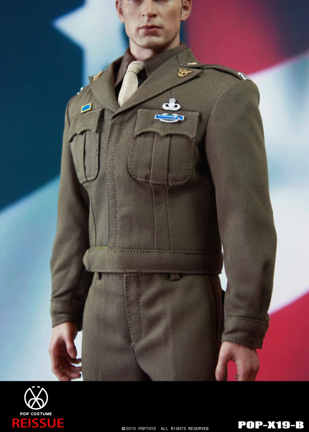 male - NEW PRODUCT: POPTOYS: 1/6 Series X19 - World War II Golden Age US Army Uniform Uniform Set - B (Reprinted in 2019) 21302211