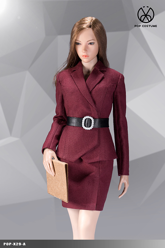 NEW PRODUCT: POPTOYS: 1/6 Office Girl - Women's Suit Set X29 Skirt & X30 Trousers 21421711