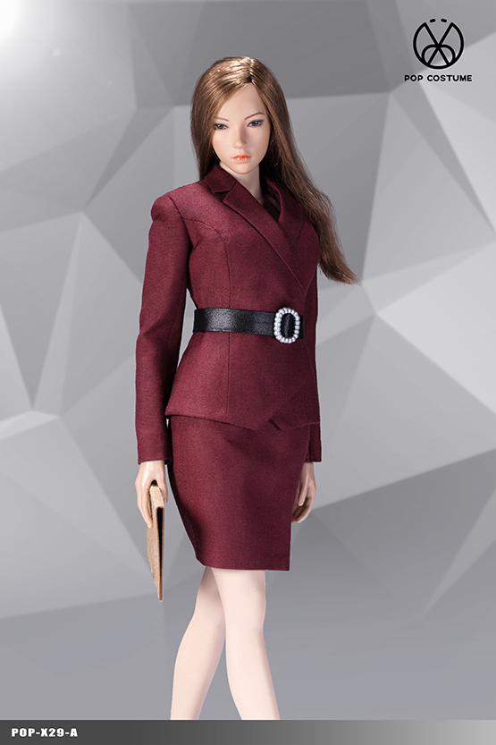 NEW PRODUCT: POPTOYS: 1/6 Office Girl - Women's Suit Set X29 Skirt & X30 Trousers 21421811