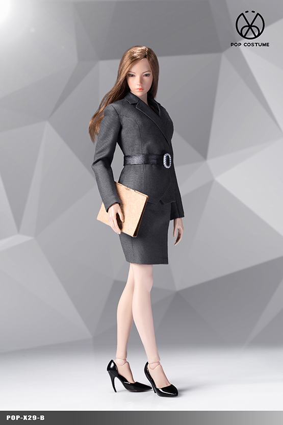 NEW PRODUCT: POPTOYS: 1/6 Office Girl - Women's Suit Set X29 Skirt & X30 Trousers 21421910