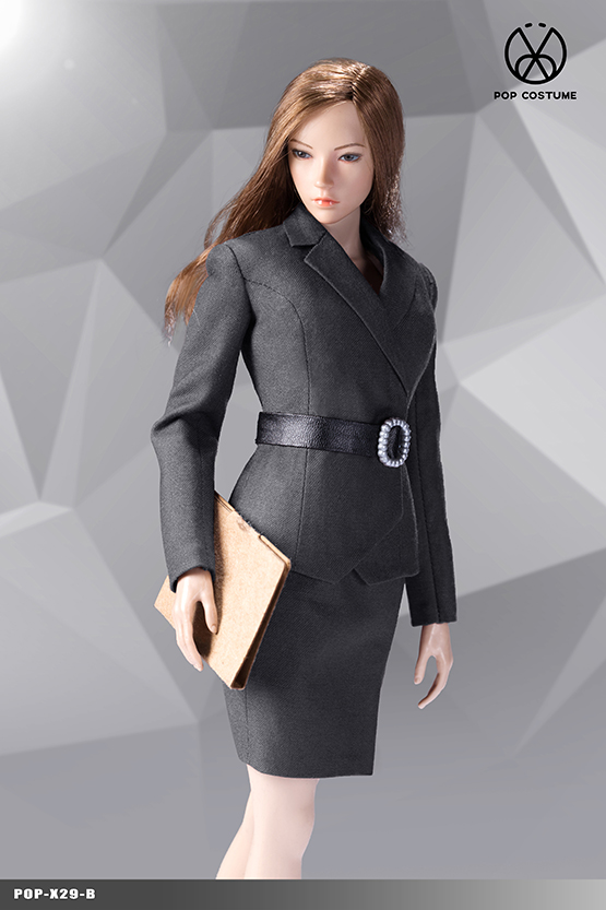 NEW PRODUCT: POPTOYS: 1/6 Office Girl - Women's Suit Set X29 Skirt & X30 Trousers 21421911