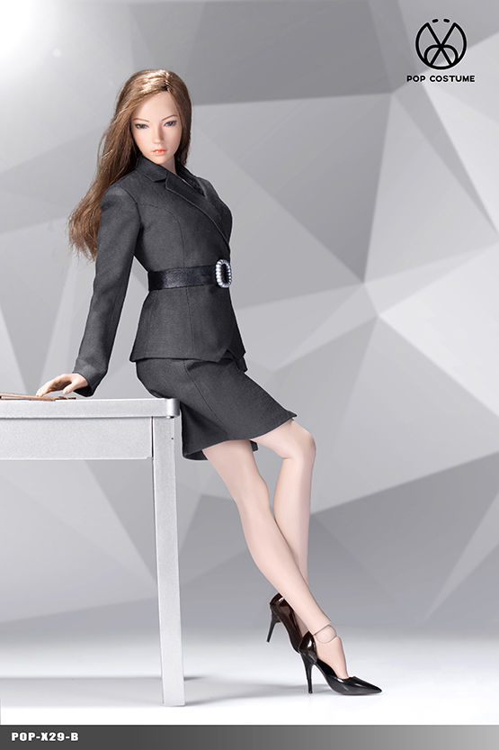 clothes - NEW PRODUCT: POPTOYS: 1/6 Office Girl - Women's Suit Set X29 Skirt & X30 Trousers 21422010