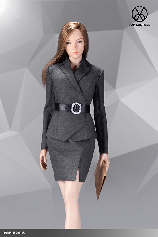 NEW PRODUCT: POPTOYS: 1/6 Office Girl - Women's Suit Set X29 Skirt & X30 Trousers 21422011
